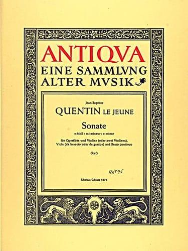 Sonate e-moll op. 10/3 - Flöte Violine Viola BC - laflutedepan.com