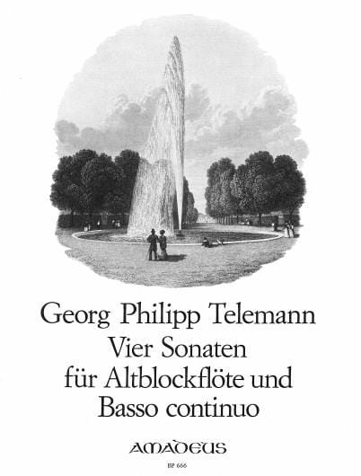4 Sonaten -Altblockflöte u. Bc - TELEMANN - laflutedepan.com