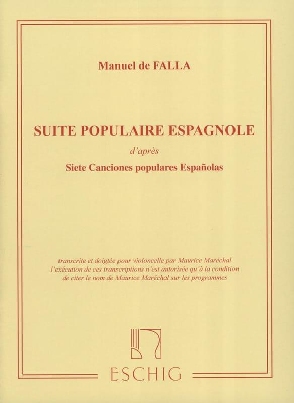 Suite populaire espagnole - DE FALLA - Partition - laflutedepan.com