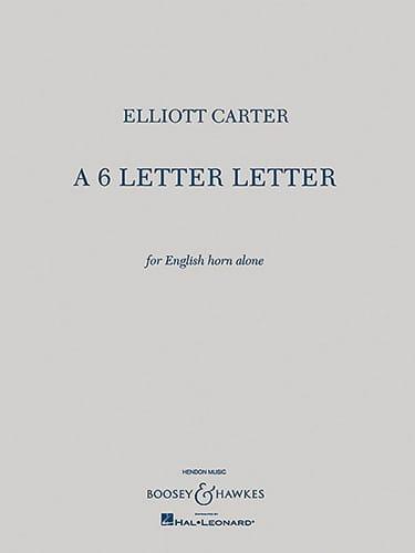 A 6 Letter Letter - English horn solo - laflutedepan.com