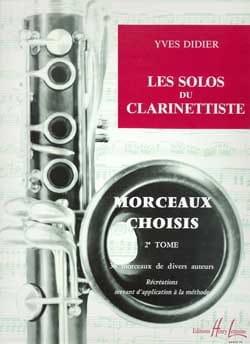 Les solos du clarinettiste - Volume 2 Yves Didier laflutedepan