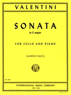 Sonata in E Major Giuseppe Valentini Partition laflutedepan