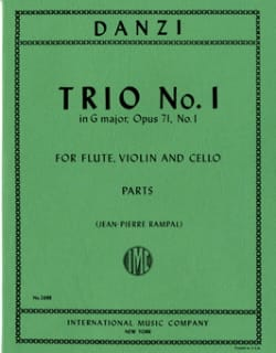 Trio n° 1 in G major op. 71 -Flute violin cello - Parts laflutedepan