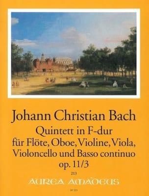 Quintette F-Dur op 11 n° 3 Johann Christian Bach laflutedepan