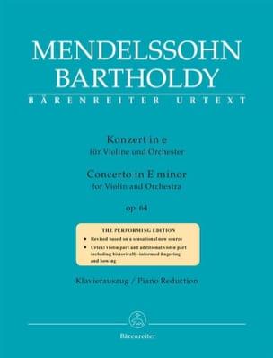 Concerto op. 64 - Violon et Piano MENDELSSOHN Partition laflutedepan