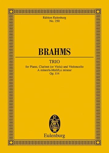 Trio A-Moll, Op. 114 La Min. - Conducteur - BRAHMS - laflutedepan.com