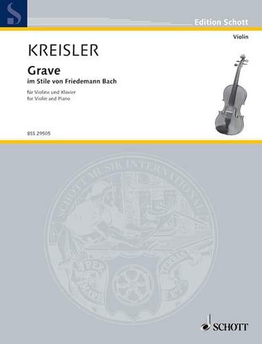 Grave im Stile von Friedemann Bach - KREISLER - laflutedepan.com
