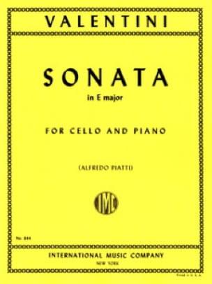 Sonata in E Major - Giuseppe Valentini - Partition - laflutedepan.com