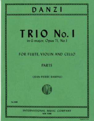 Trio n° 1 in G major op. 71 -Flute violin cello - Parts - laflutedepan.com