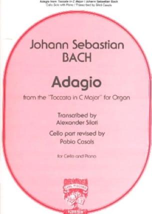 Adagio - BACH - Partition - Violoncelle - laflutedepan.com
