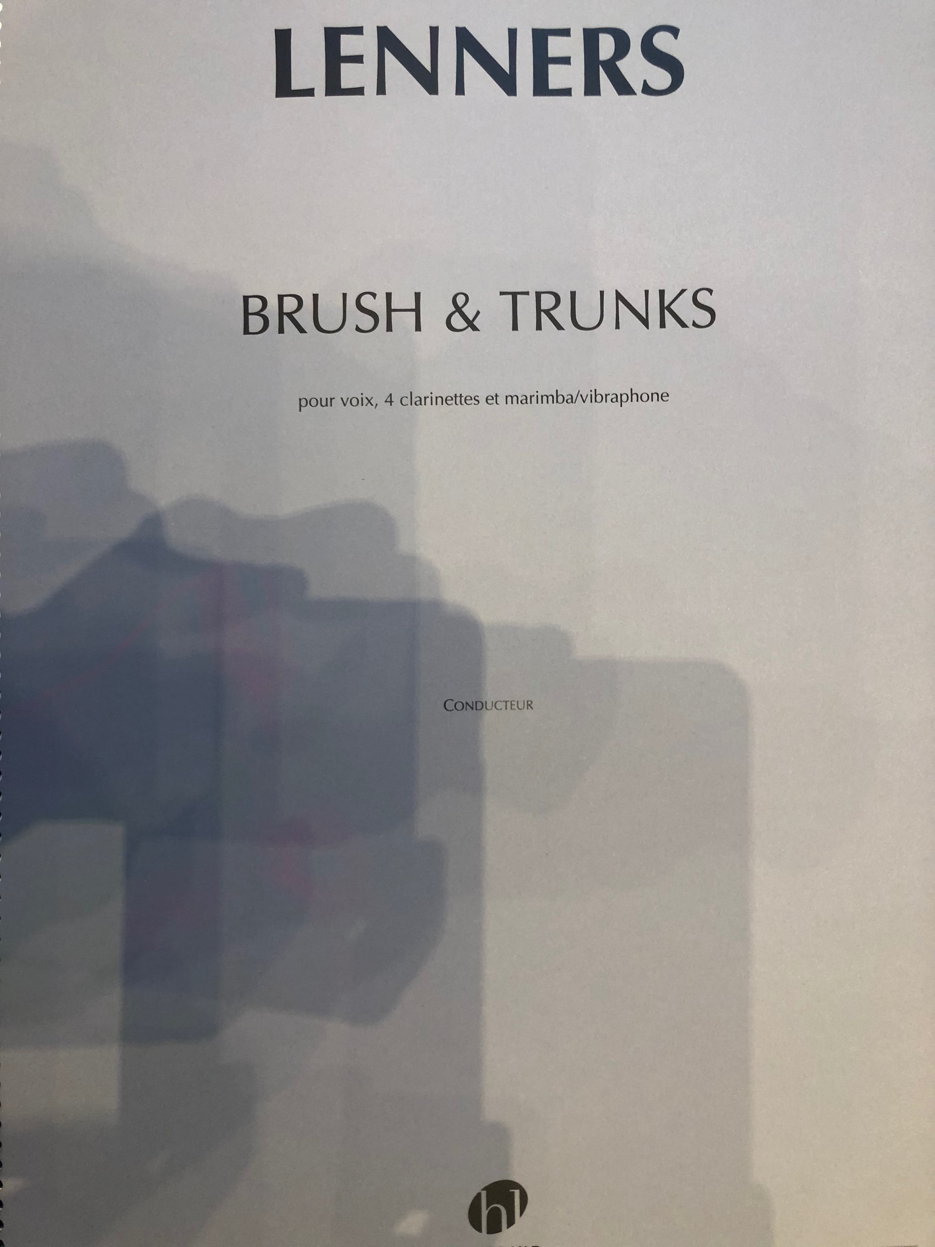 Brush and Trunks - Claude Lenners - Partition - laflutedepan.com