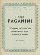 24 Capricen und Duo für Violine PAGANINI Partition laflutedepan