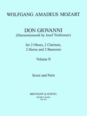 Don Giovanni Volume 2 -Harmoniemusik - Score + parts laflutedepan
