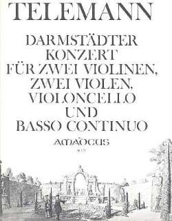 Darmstädter Konzert -2 Violinen 2 Violen Violoncello Bc laflutedepan