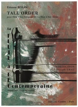 Tall Order Etienne Rolin Partition Flûte à bec - laflutedepan