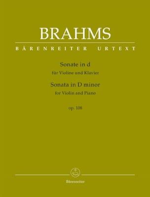 Sonate en ré mineur, op. 108 - Violon et piano BRAHMS laflutedepan