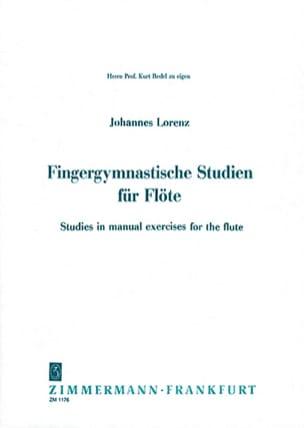 Fingergymnastische Studien Für Flöte Johannes Lorenz laflutedepan