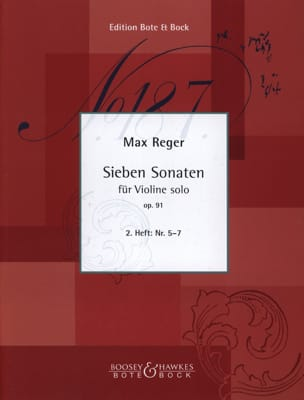 7 Sonaten, Op. 91 Volume 2 N° 5 A 7 - Max Reger - laflutedepan.com