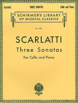 3 Sonates SCARLATTI Partition Violoncelle - laflutedepan