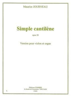 Simple Cantilène Op.50 Maurice Journeau Partition laflutedepan
