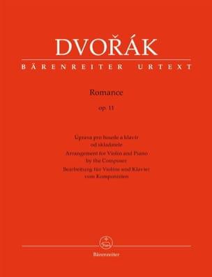 Romance, op. 11 - Violon et piano DVORAK Partition laflutedepan