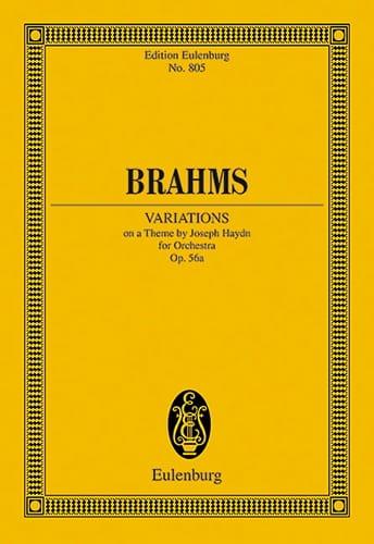 Variationen Op. 56a - BRAHMS - Partition - laflutedepan.com