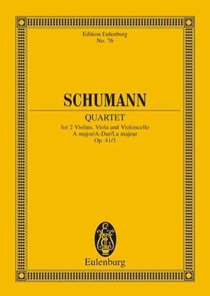 Streichquartett A-Dur Op. 41/3 - Conducteur SCHUMANN laflutedepan