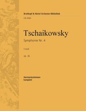 Symphonie Nr. 4 f-moll op. 36 TCHAIKOVSKY Partition laflutedepan