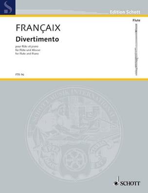 Divertimento FRANÇAIX Partition Flûte traversière - laflutedepan