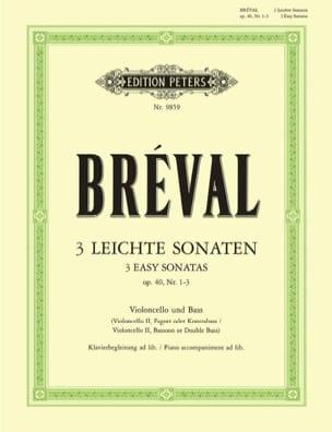 Jean-Baptiste Bréval - Drei Leichte Sonaten op. 40 No. 1-3 - Partition - di-arezzo.es