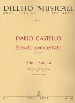 Prima Sonata Sonate concertante - Libro primo - 2 Blockflöten Bc laflutedepan