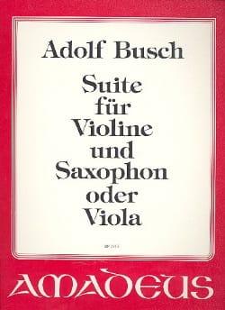 Suite für Violine und Saxophon O. Viola Adolf Busch laflutedepan