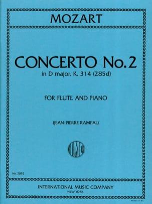 MOZART - Concerto No. 2 in D Major KV 314 - Piano Flute - Partition - di-arezzo.co.uk