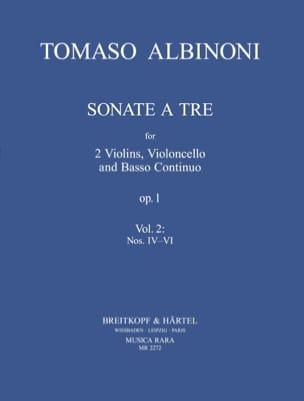 3 Sonatas from op. 1 n° 4-6 -Parts ALBINONI Partition laflutedepan