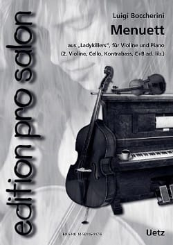 Menuet Extr. de Ladykillers BOCCHERINI Partition Trios - laflutedepan