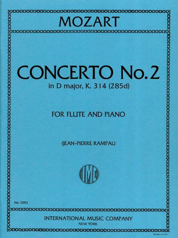 Concerto n° 2 in D major KV 314 - Flute piano - laflutedepan.com