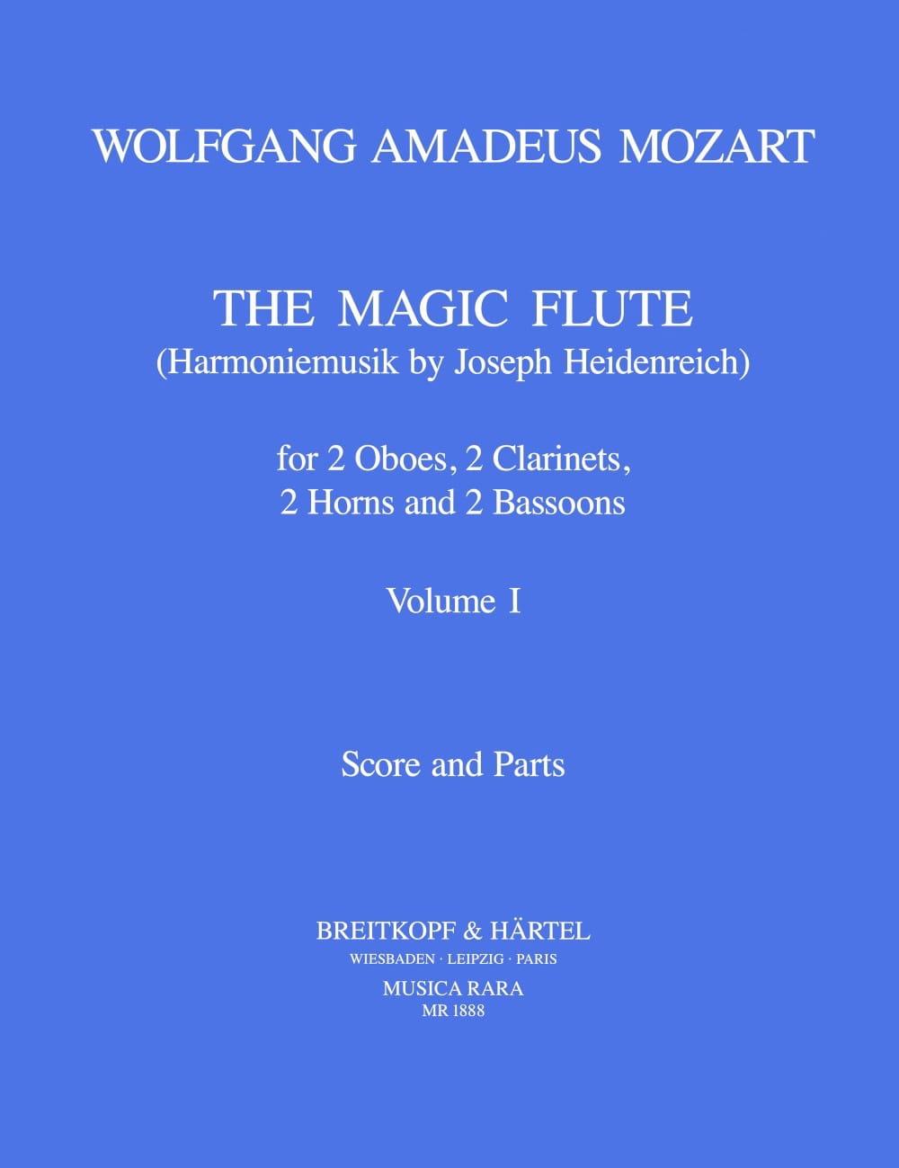 The magic flute Volume 1 -Harmoniemusik - Score + parts - laflutedepan.com