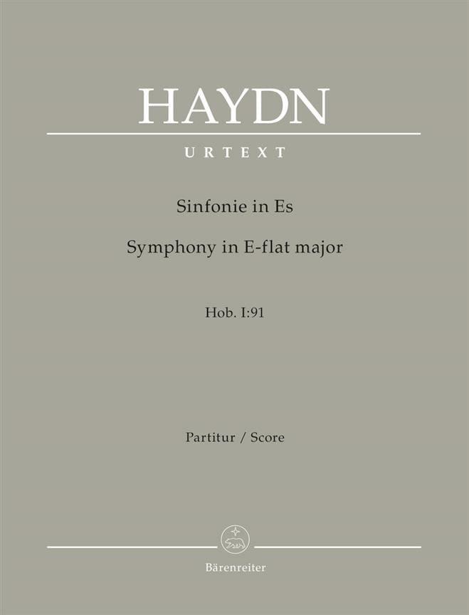 Symphonie n° 91 - Conducteur - HAYDN - Partition - laflutedepan.com