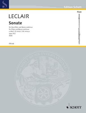 Sonate E-Moll Mi Min., Op. 9 N°2 - Flûte et B. C. LECLAIR laflutedepan