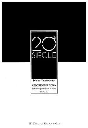 Concerto Violon N ° 1 Op. 77 CHOSTAKOVITCH Partition laflutedepan