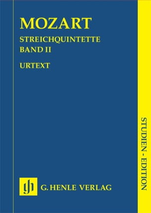 Quintettes à cordes, volume 2 MOZART Partition laflutedepan