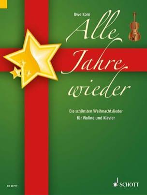 Les plus beaux Noëls Uwe Korn Partition Violon - laflutedepan