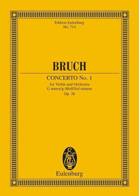 Concerto Pour Violon N°1 en Sol Min Op. 26 - BRUCH - laflutedepan.com