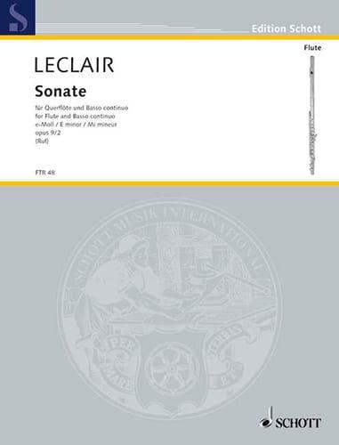 Sonate E-Moll Mi Min., Op. 9 N°2 - Flûte et B. C. - laflutedepan.com