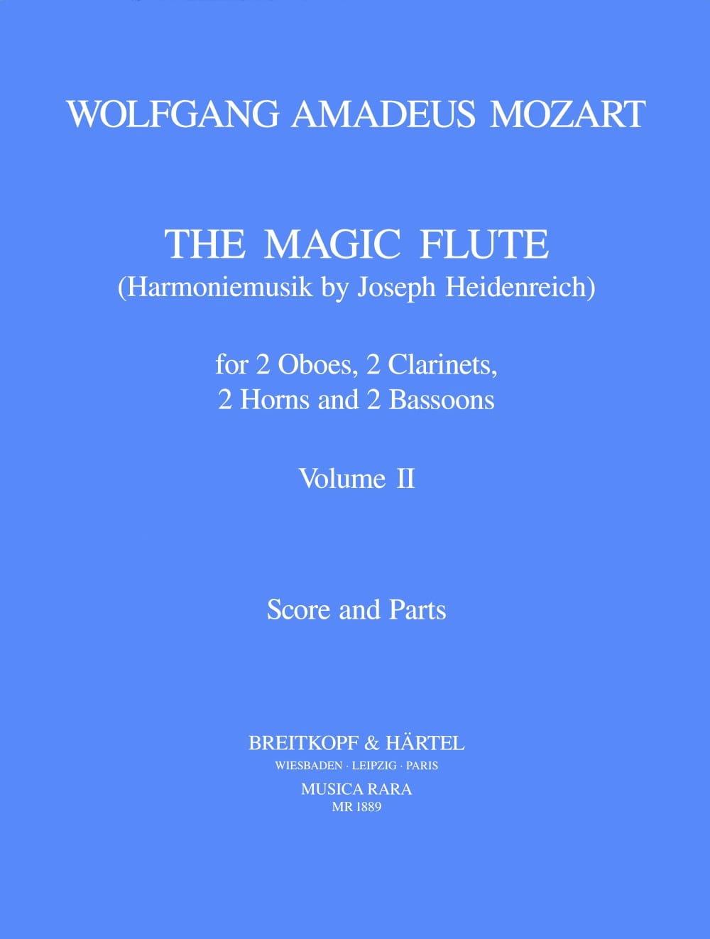The magic flute Volume 2 -Harmoniemusik - Score + parts - laflutedepan.com