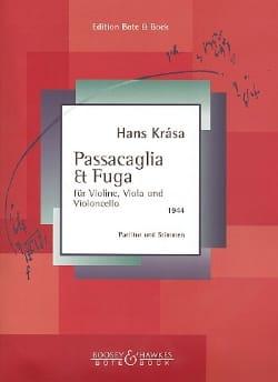 Hans Krása - Passacaglia und Fuge - Partitur Stimmen - Partition - di-arezzo.co.uk