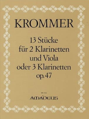 13 Stücke op. 47 -2 Klarinetten u. Viola o. 3 Klarinetten - Stimmen - laflutedepan.com