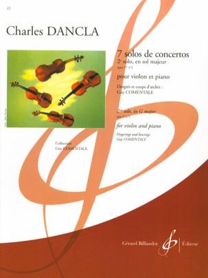 DANCLA - Solo Concerto No. 2 op. 77 in G major - Partition - di-arezzo.co.uk