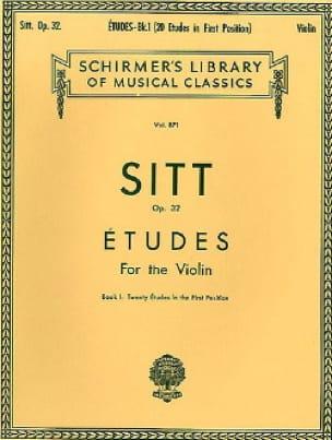 Etudes op. 32 - Book 1 - Hans Sitt - Partition - laflutedepan.com