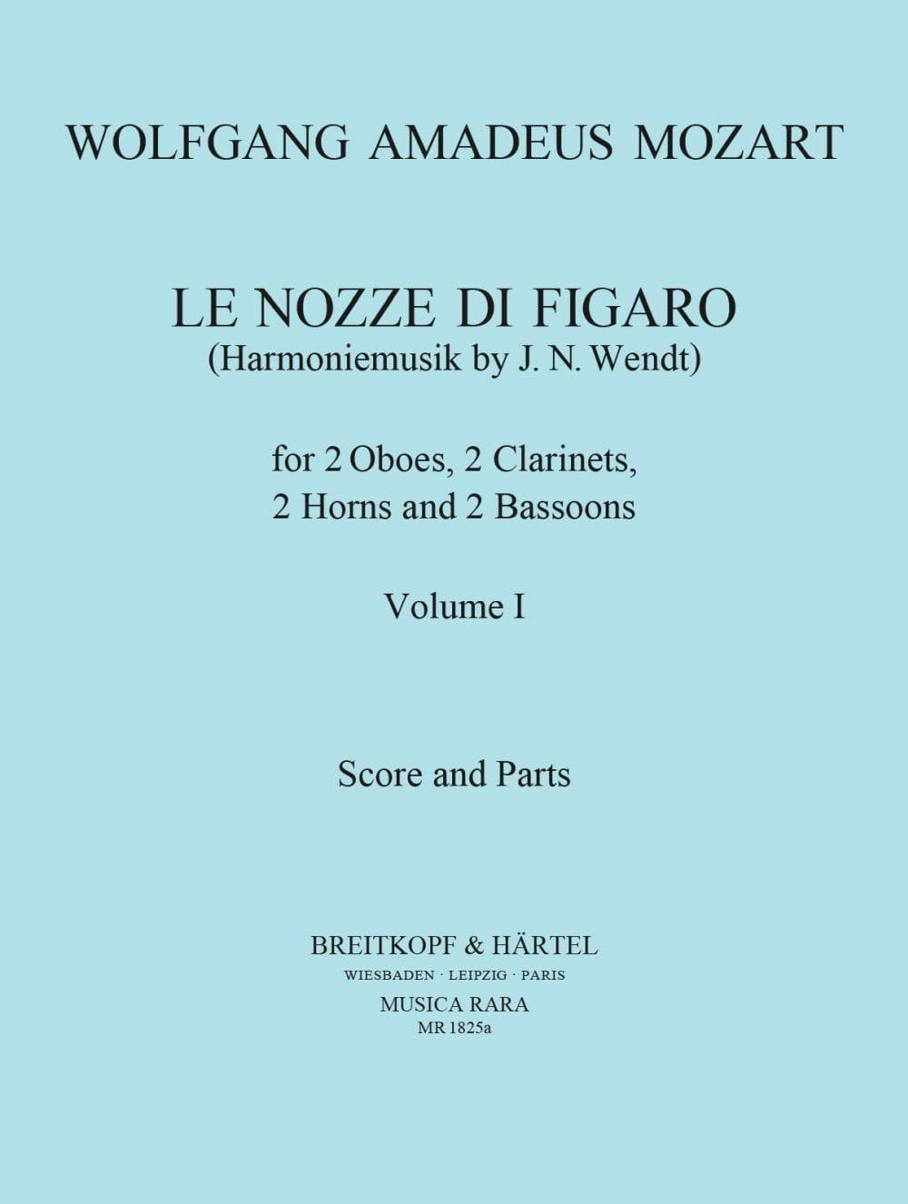 Le Nozze di Figaro Volume 1 -Harmoniemusik - Score + Parts - laflutedepan.com